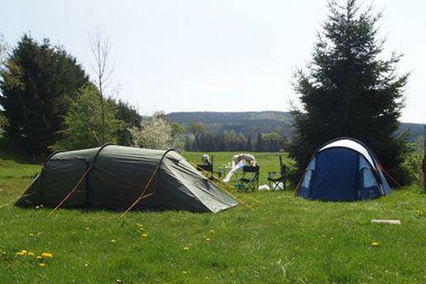 Tentplaats op tentenveld