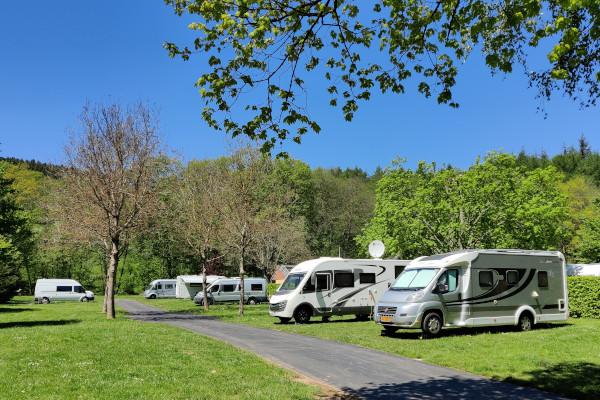 Kampeerplaats voor camper