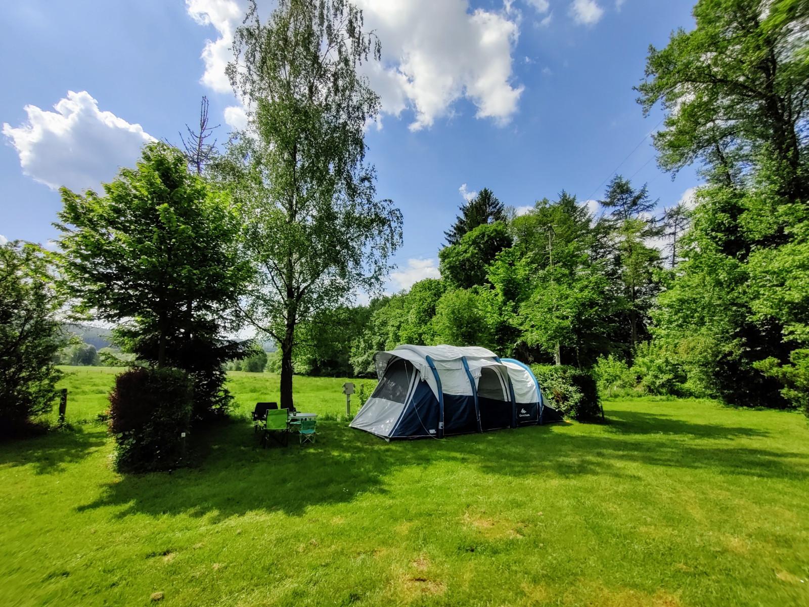 Kampeerplaats voor tent